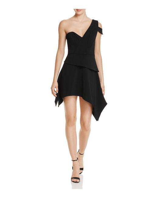 La Maison Talulah | Black Aretha Asymmetric Mini Dress | Lyst