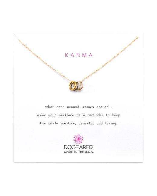Dogeared Multicolor Tiny Sparkle Karma Necklace