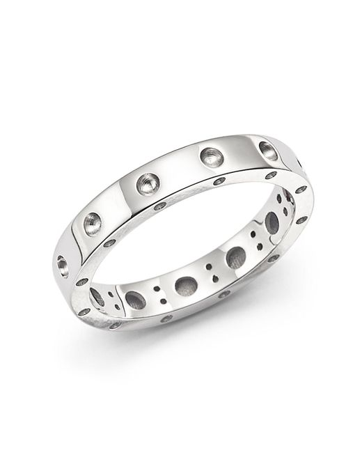 Roberto Coin | Metallic 18k White Gold Symphony Dotted Ring | Lyst