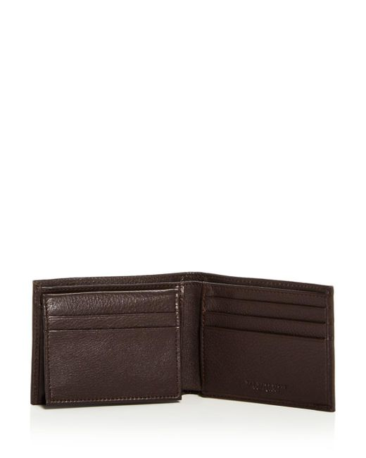 daf39692b5f2 ... Bloomingdale's - Brown Rfid-protected Pebble Leather Bi-fold Wallet  With Removable Card Case