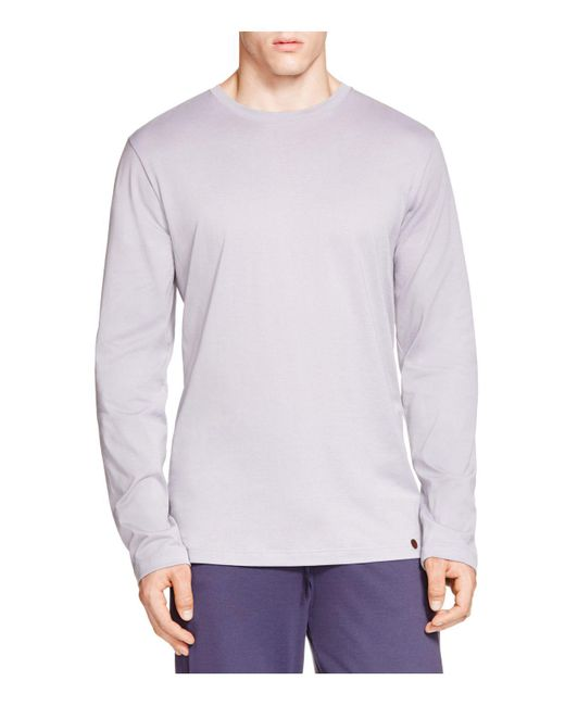 Hanro | Purple Night And Day Long Sleeve Shirt for Men | Lyst