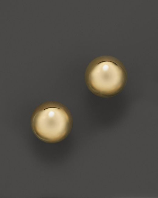 Roberto Coin   18k Yellow Gold Small Pallini Post Earrings   Lyst