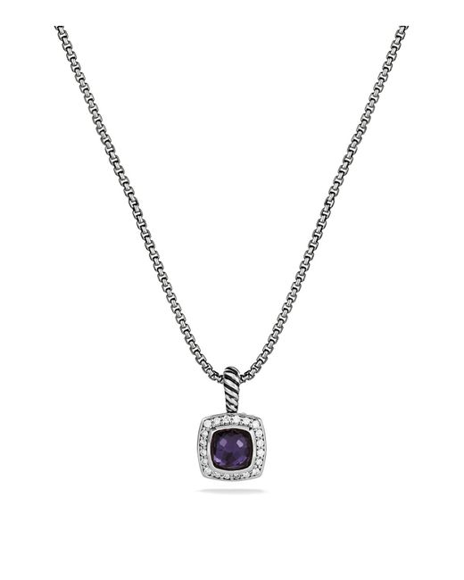 David Yurman - Petite Albion Pendant With Black Orchid & Diamonds On Chain - Lyst