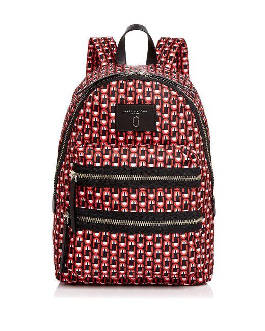 Marc Jacobs   Red Biker Logo Scream Print Backpack   Lyst