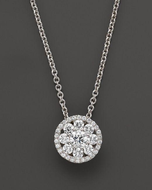 "Roberto Coin   Diamond Pendant Necklace In 18k White Gold, 16""   Lyst"