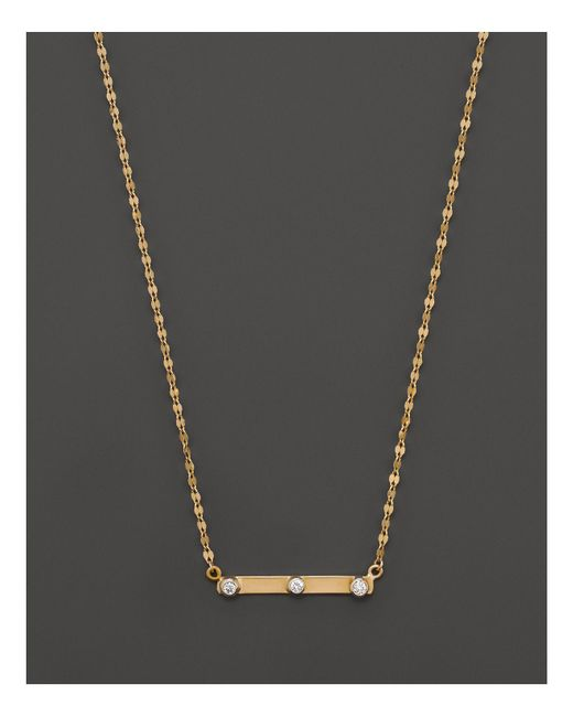 Lana Jewelry | 14k Yellow Gold Barred Pendant Necklace, 18"