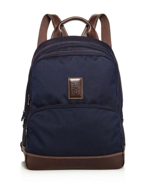 Longchamp Blue Boxford Backpack for men