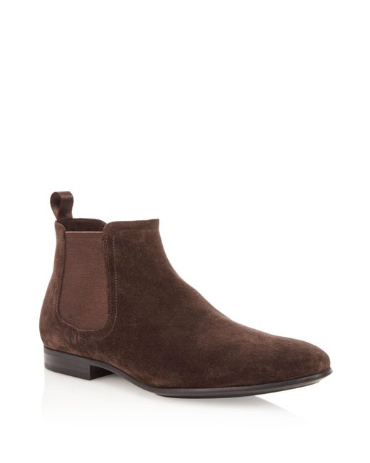 Kenneth Cole   Brown Suede Chelsea Boots   Lyst