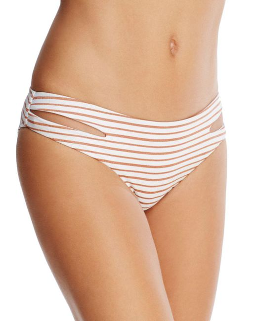 L*Space - White Estella Cheeky Bikini Bottom - Lyst