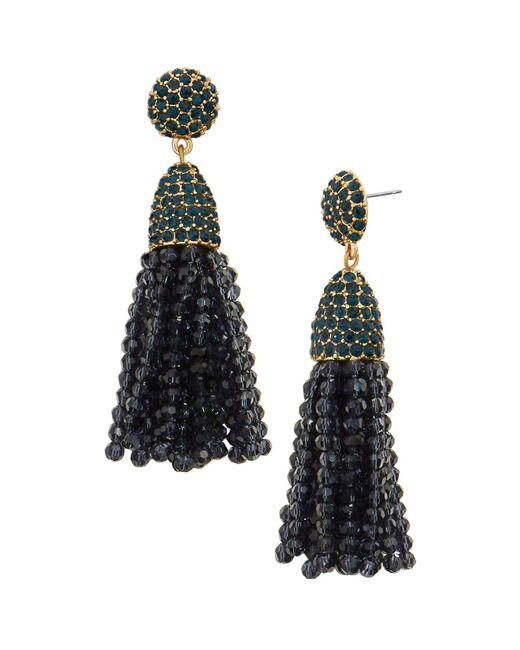 BaubleBar | Blue Annabelle Tassel Drop Earrings | Lyst