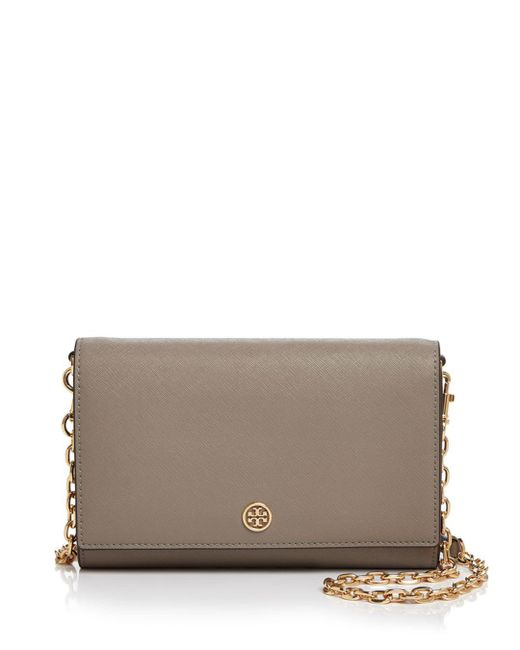 Tory Burch - Multicolor Robinson Medium Leather Chain Wallet Crossbody - Lyst