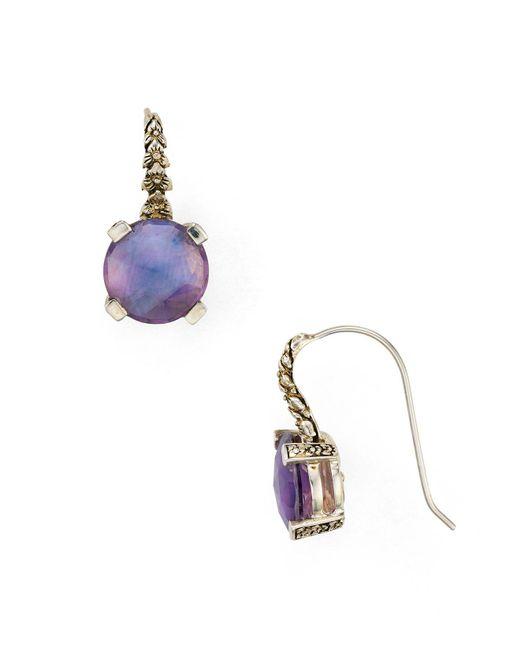 Stephen Dweck | Purple Amethyst Drop Earrings | Lyst