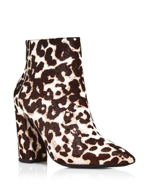 Charles David Multicolor Women's Snow Leopard Block Heel Boots