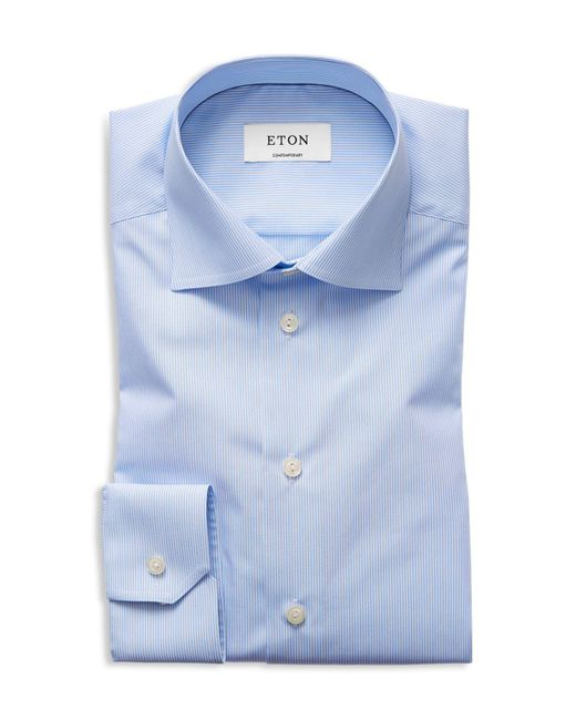 Eton of Sweden | Blue Of Sweden Basic Regular Fit Skinny Bengal Stripe Dress Shirt for Men | Lyst