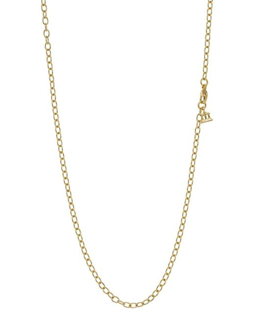Temple St. Clair Metallic 18k Gold Extra Small Oval Chain