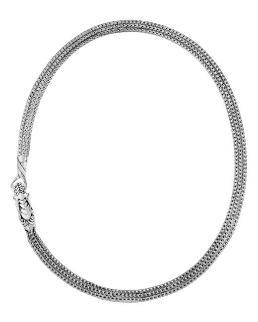 John Hardy - Metallic Sterling Silver Legends Naga Triple Chain Necklace With Sapphire Eyes - Lyst