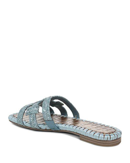 48fc35943 Sam Edelman Women s Beckie Woven Slide Sandals in Blue - Lyst