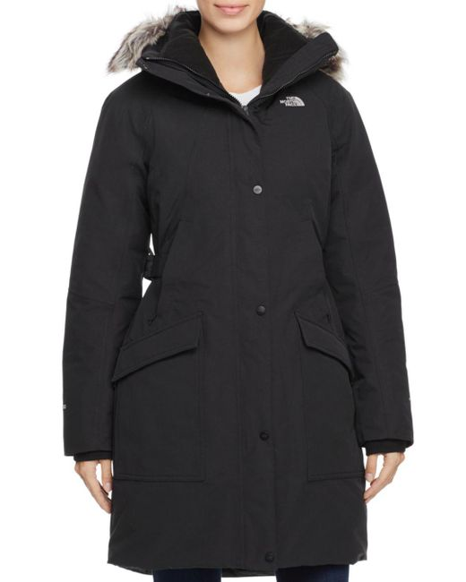 The North Face - Black Outer Boro Faux Fur Trim Parka - Lyst