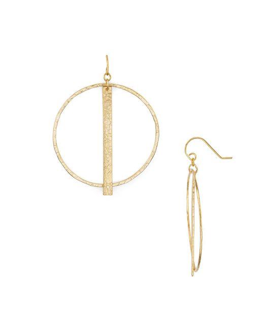 Stephanie Kantis   Metallic Column Hoop Earrings   Lyst