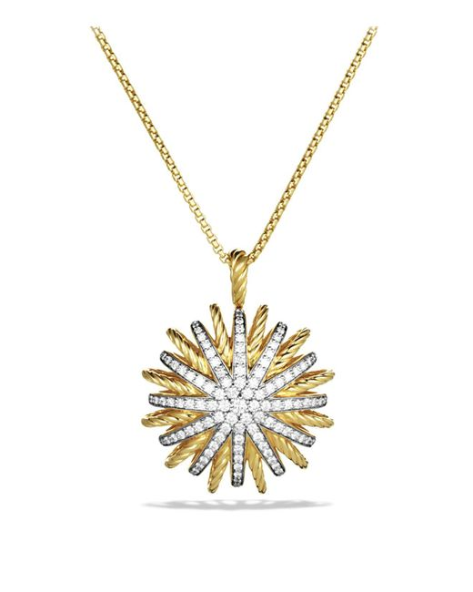 David Yurman | Yellow Starburst Large Pendant With Diamonds On Chain | Lyst