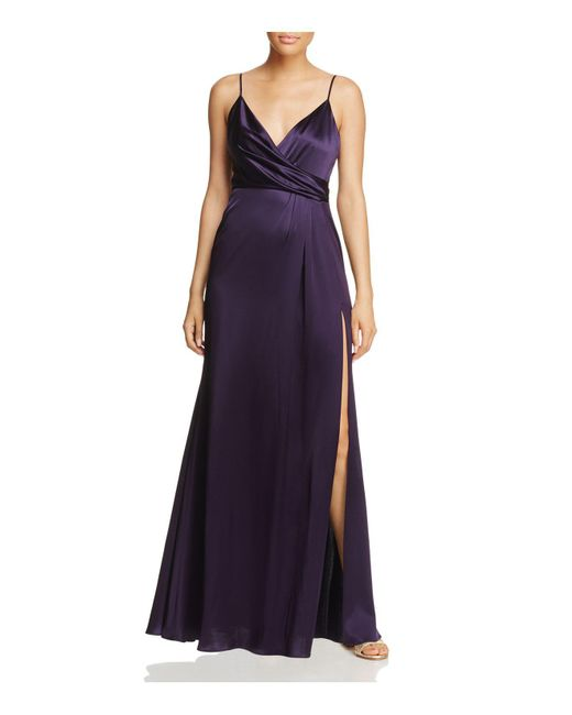 JILL Jill Stuart | Purple Crossover Slip Gown | Lyst