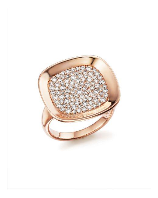 Roberto Coin | Metallic 18k Rose Gold Carnaby Street Diamond Ring | Lyst