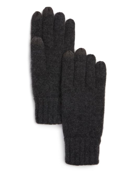 Bloomingdale's Gray Knitted Tech Gloves for men
