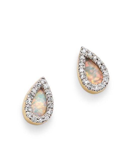 Adina Reyter - Metallic 14k Yellow Gold Opal & Diamond Teardrop Stud Earrings - Lyst