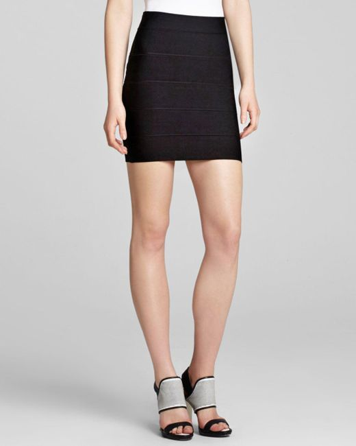 BCBGMAXAZRIA Black Skirt - Simone Texture Power