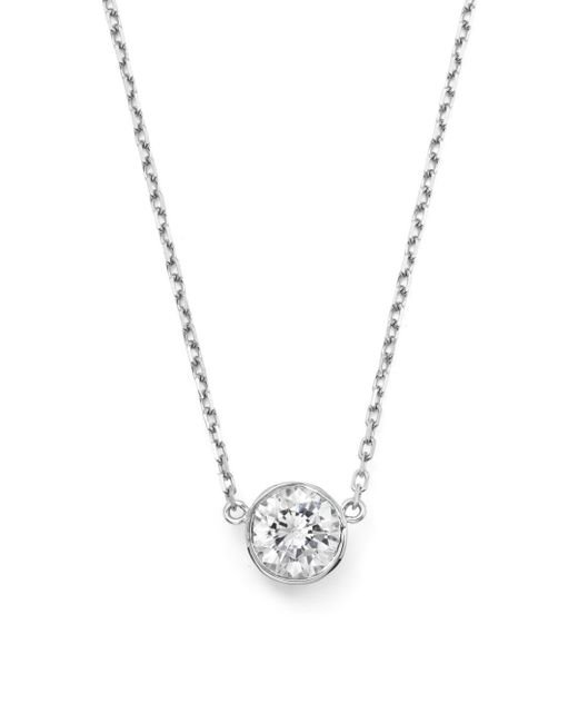 Bloomingdale's - Diamond Bezel Set Pendant Necklace In 14k White Gold, .50 Ct. T.w. - Lyst