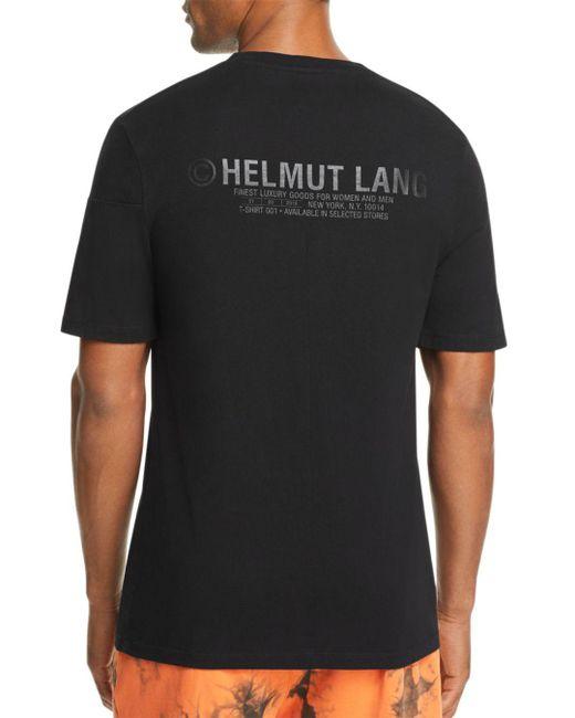 Helmut Lang - Black Back Tonal Logo-print Tee for Men - Lyst ... c413f686a