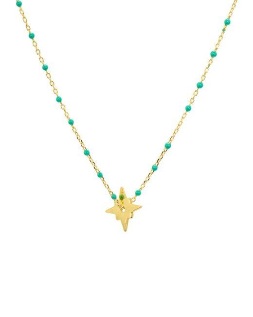 Argento Vivo - Metallic North Star Enamel - Detail Necklace - Lyst