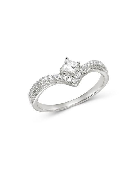 Bloomingdale's Diamond Chevron Ring In 14k White Gold