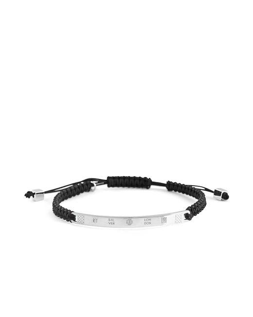 Tateossian | Black Macramé Logo Bracelet for Men | Lyst