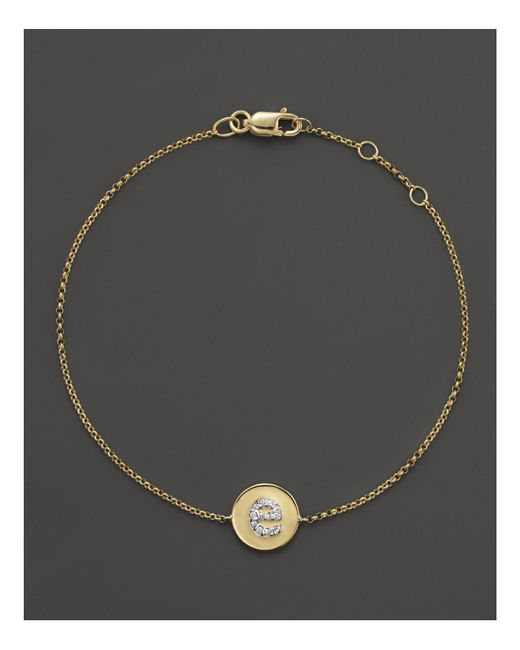 KC Designs | Metallic Diamond Pavé Initial Bracelet | Lyst