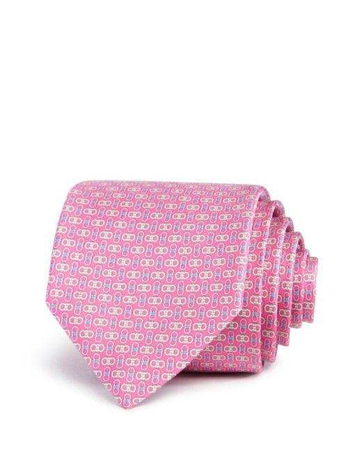 Ferragamo - Pink Linking Gancini Classic Tie for Men - Lyst