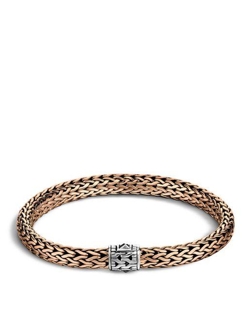 John Hardy - Metallic Men's Classic Chain Silver And Bronze Medium Chain Bracelet for Men - Lyst