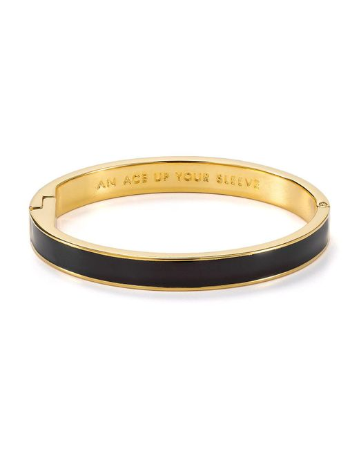 Kate Spade | Black Ace Up Your Sleeve Idiom Bangle | Lyst