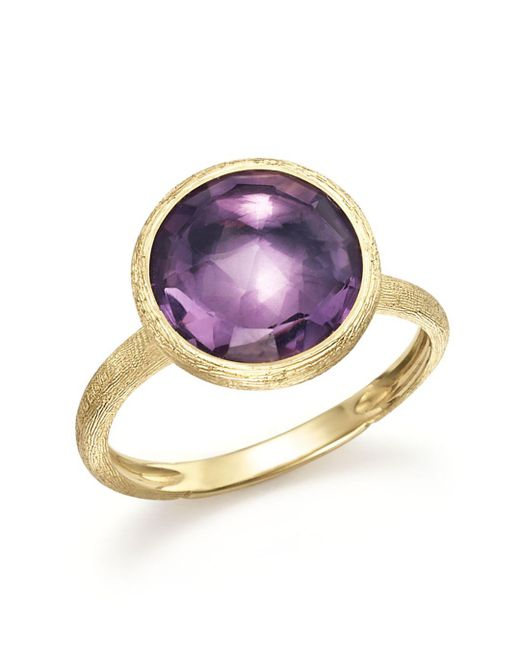 Marco Bicego Multicolor 18k Yellow Gold Jaipur Ring With Amethyst
