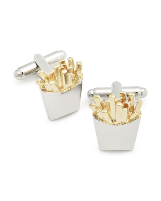 Link Up - Metallic French Fries Cufflinks for Men - Lyst