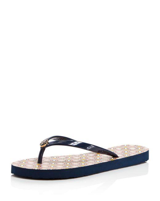 Tory Burch - Blue Women's Thin Flip-flops - Lyst