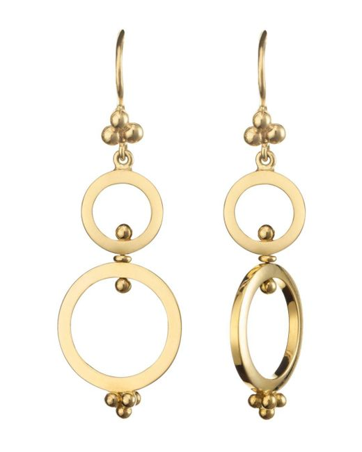 Temple St. Clair - Metallic 18k Yellow Gold Double Ring Earrings - Lyst
