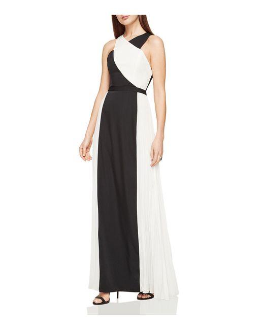 BCBGMAXAZRIA | Black Georgia Color-block Gown | Lyst