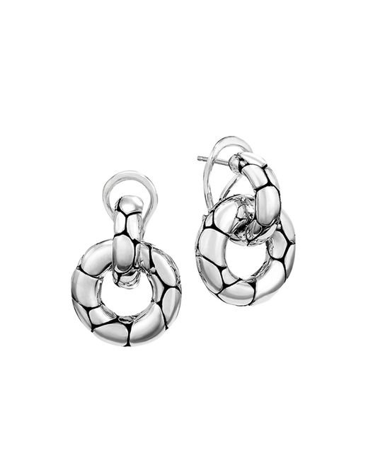 "John Hardy - Metallic ""kali"" Door Knocker Earrings - Lyst"