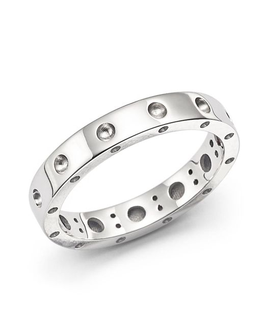 Roberto Coin - Metallic 18k White Gold Symphony Dotted Ring - Lyst