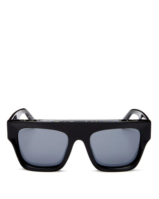 Stella McCartney Black Flat Top Sunglasses