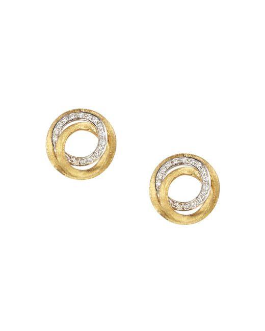 Marco Bicego Metallic Diamond Jaipur Link Stud Earrings