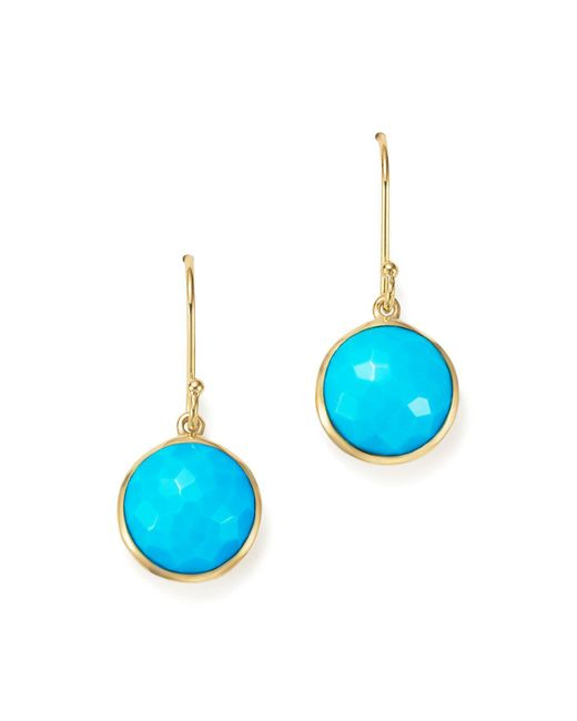 Ippolita | Blue 18k Gold Lollipop Earrings In Turquoise | Lyst