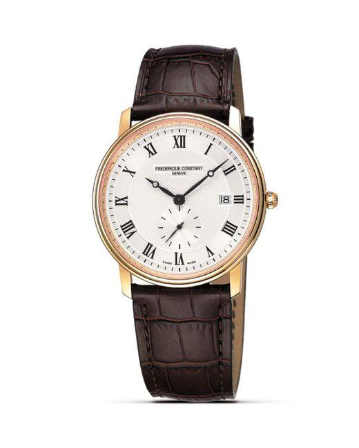 """Frederique Constant - Metallic Frédérique Constant """"slim Line"""" Quartz Watch, 39mm for Men - Lyst"""