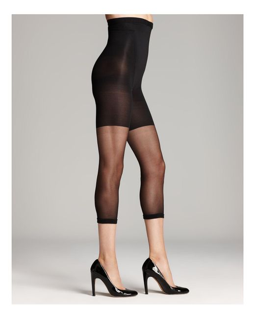 Spanx | Black In-power Line Super Footless Shaper Tights | Lyst